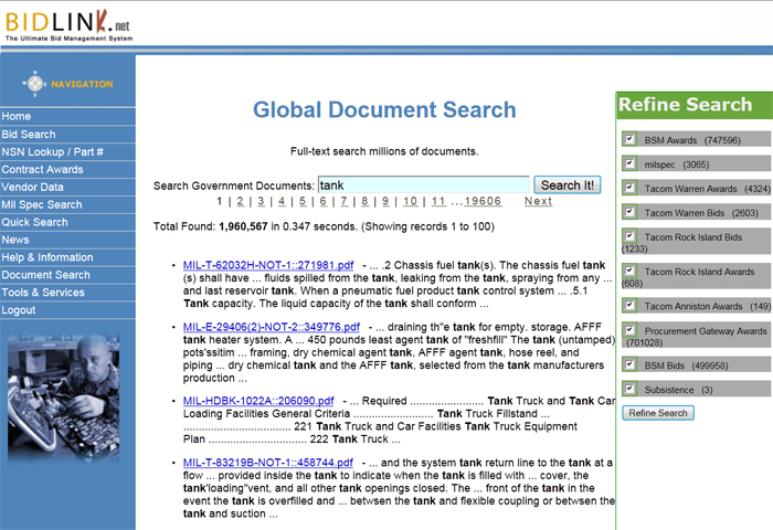 Full text search Government Documents